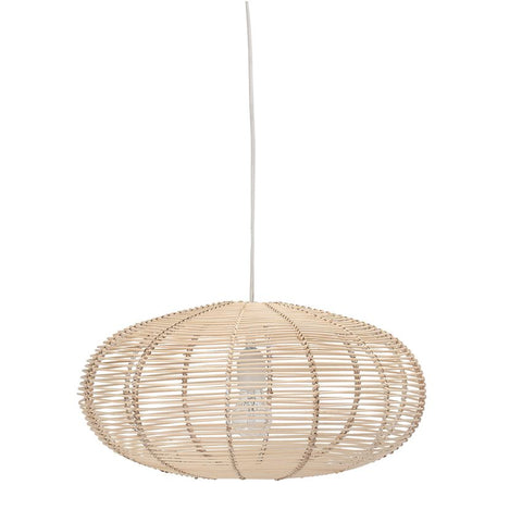 basket rattan light fixture