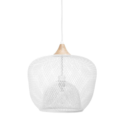 white modern hanging light