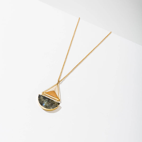 geo gold labradorite necklace