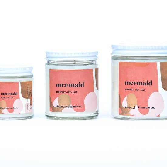 mermaid soy candle