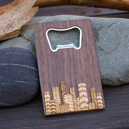 walnut stainless bottle opener
