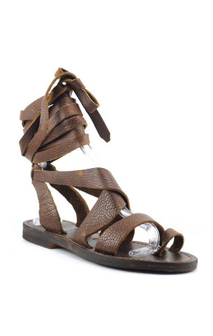 zaylee brown leather sandal