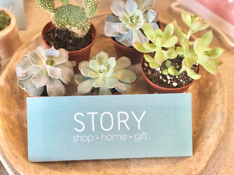 Story boutique gift certificates $25-$150