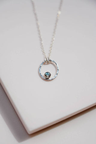 labradorite or moonstone sterling necklace