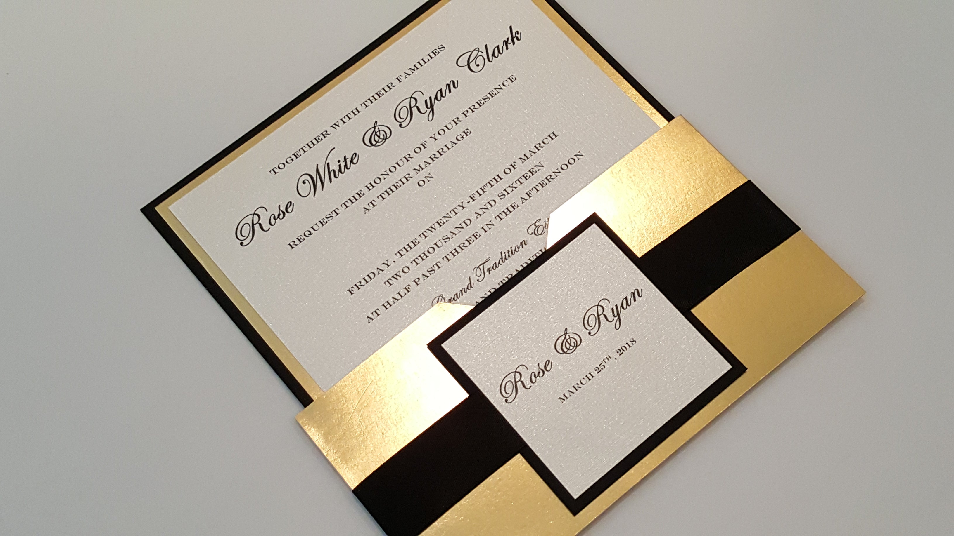 Layered Invitation comes with RSVP cards and envelopes