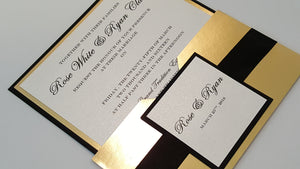 Black and Gold Marriage Card
