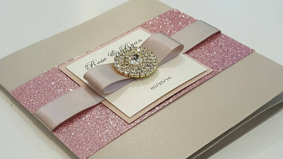 Shimmery Designer Wedding Card