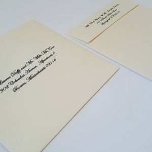 Envelope addressing (Guest addresses and Return address)