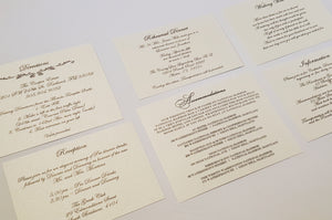 Reception Card Enclosures (Inserts)