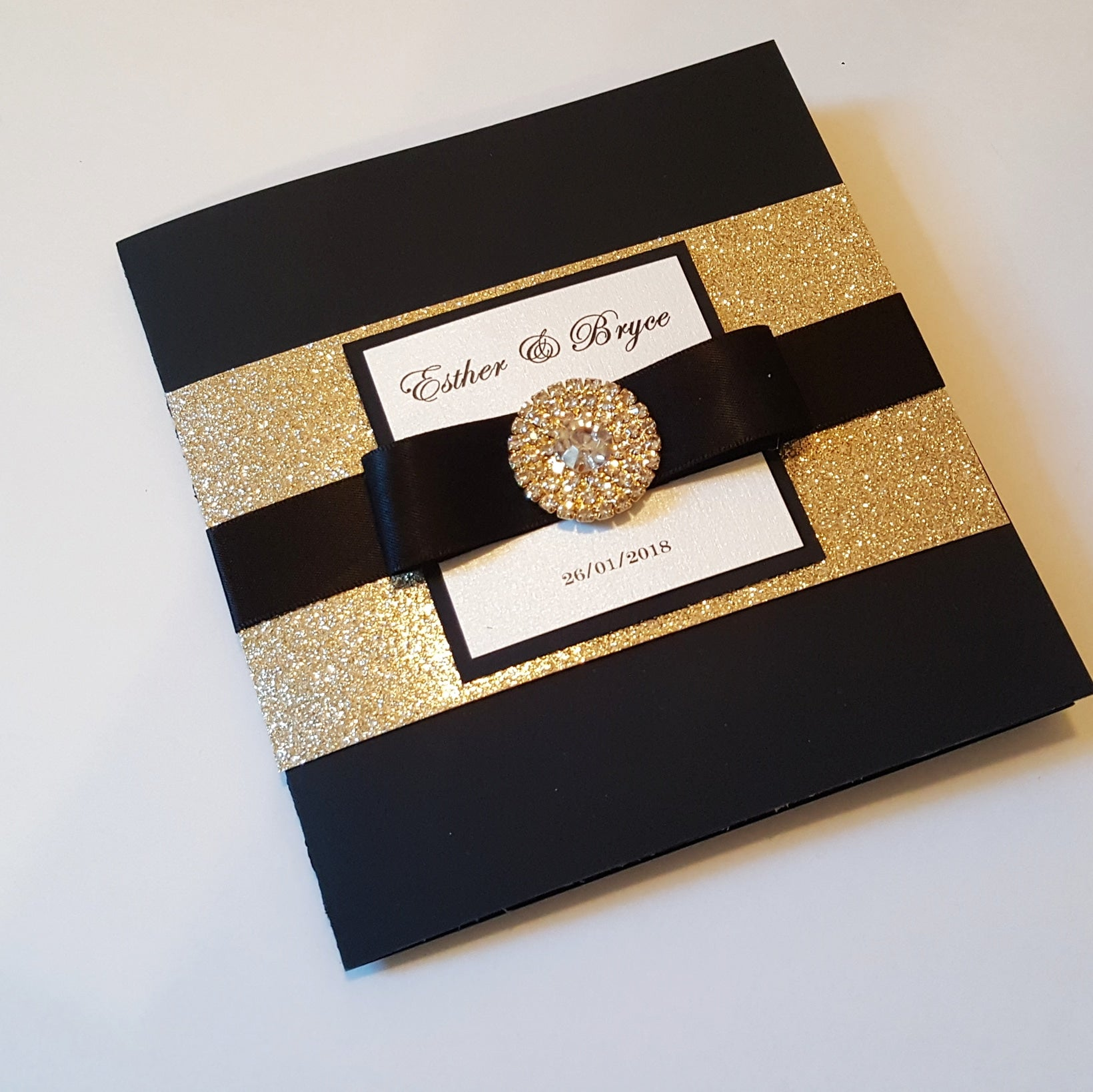 Glitter All in one Invitations