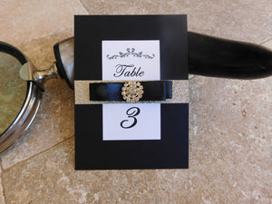 No-shed Embellished Glitter Table Numbers