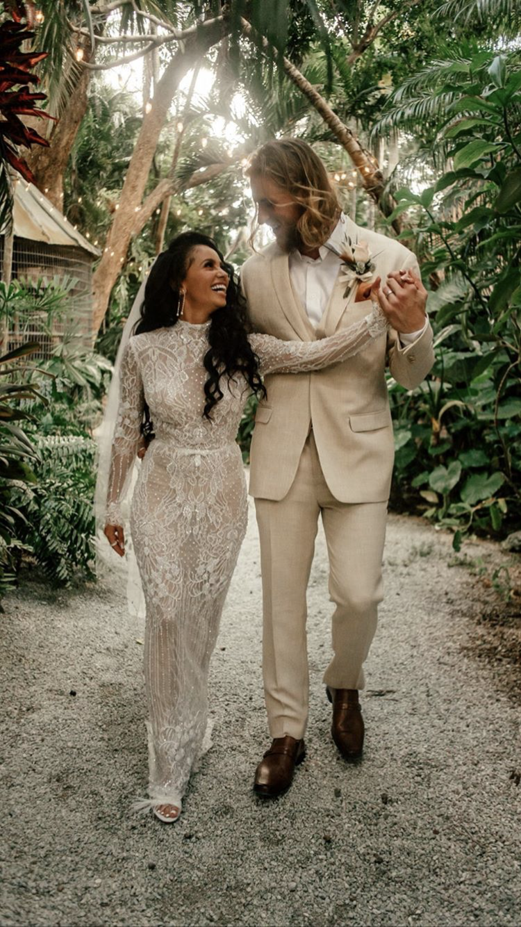 Vanessa Morgan and Michael Kopech wedding
