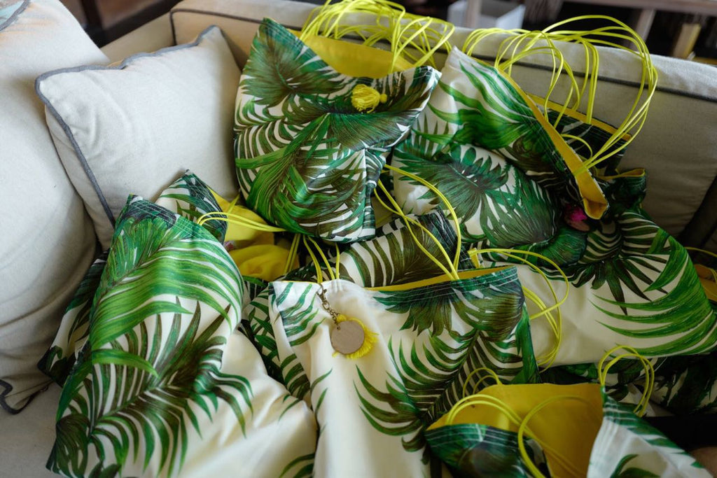 hotel welcome bags for tropical wedding