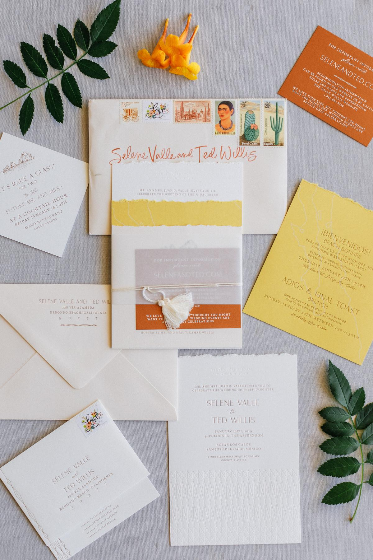boho inspired invitations