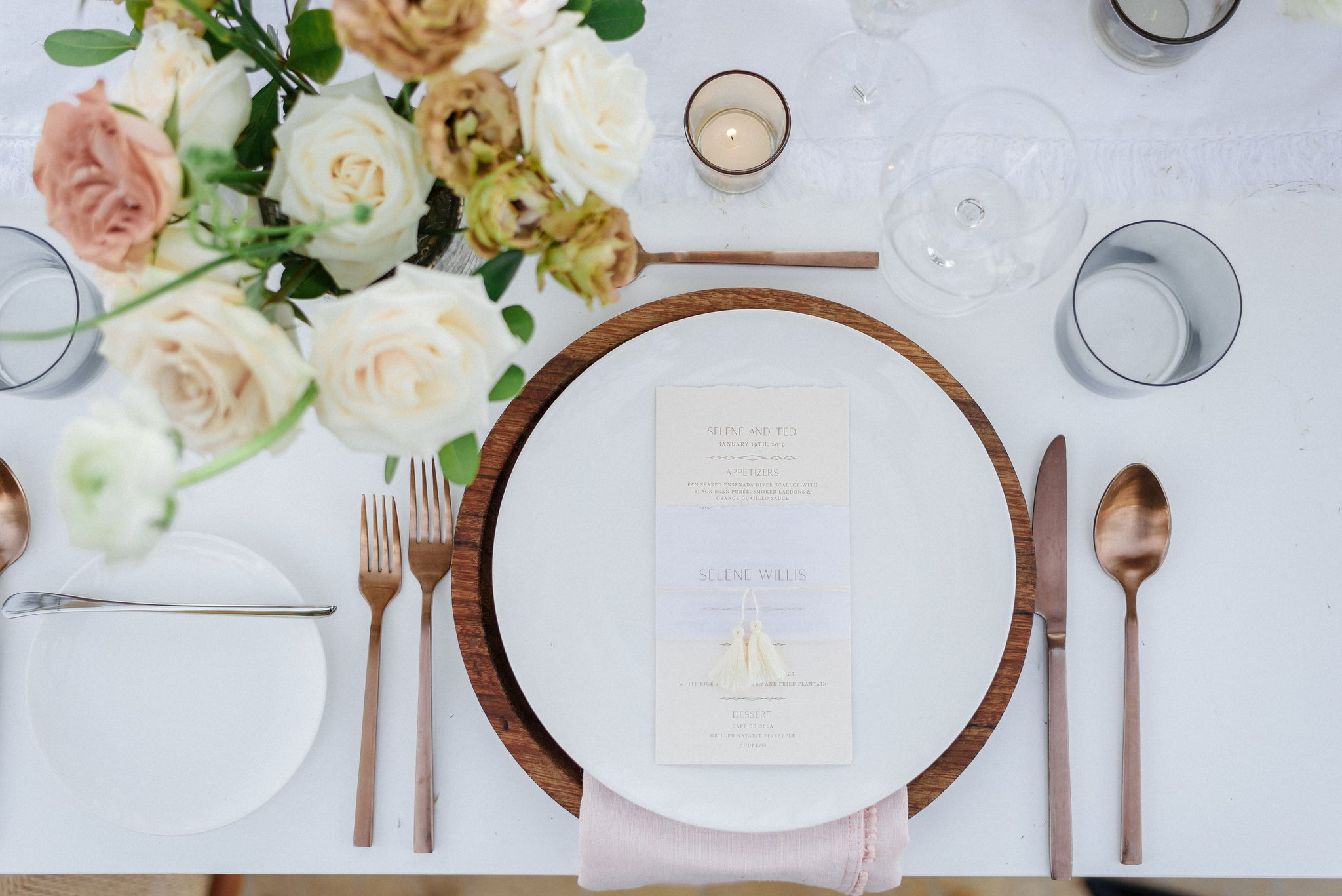 boho wedding table seat