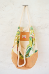 large banana leaf beach bag