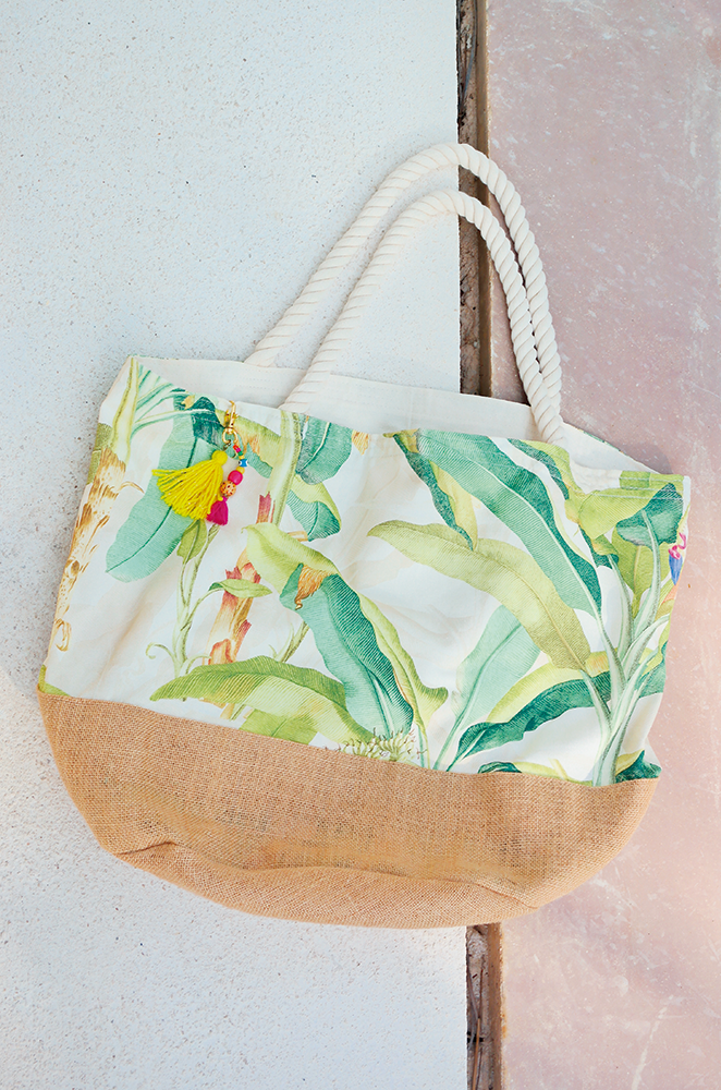oversized tropical beach bag