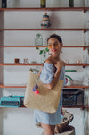 straw basket beach bag