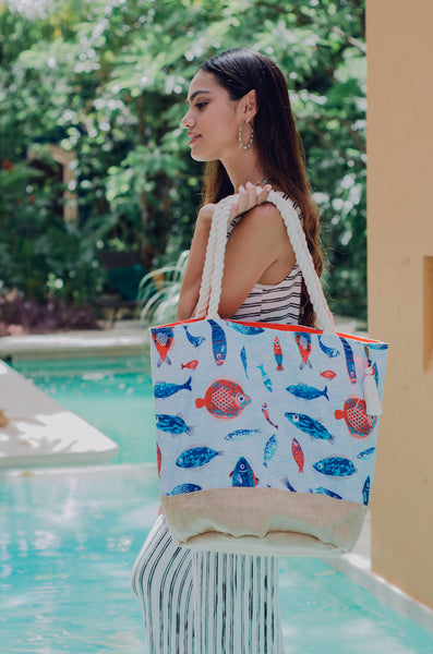 fish beach bag