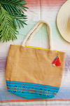 Burlap beach bag for Mexican bachelorette party