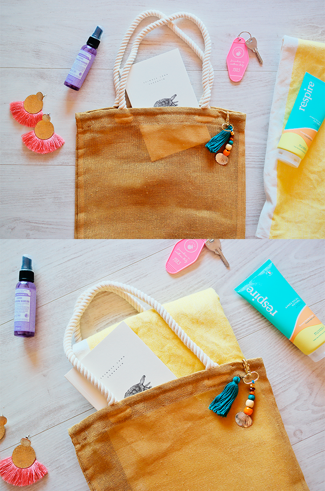 mexican beach bag with tassel