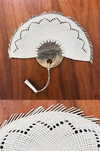 Mexican woven fans for weddings