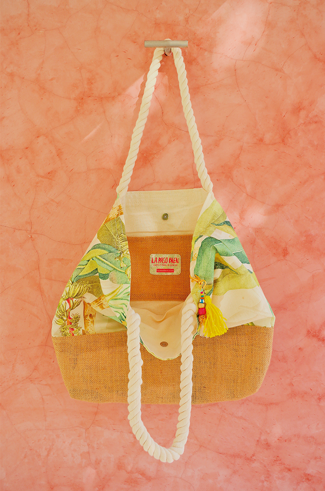 personalized banana palm leaf bag