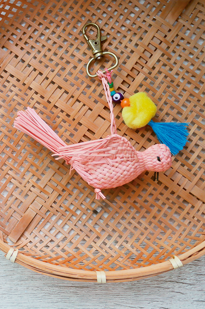 custom bird keychain