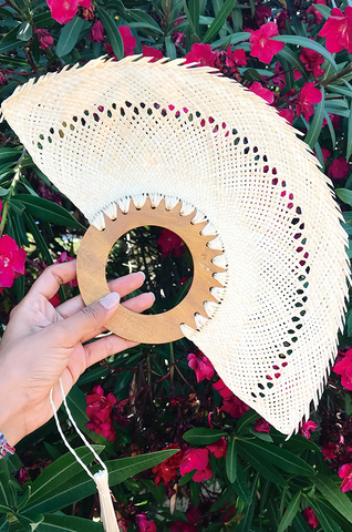 FIESTA / natural palm hand fans