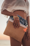 Personalized beach clutch