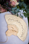 personalized palm leaf hand fans for wedding