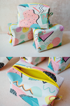 memphis design style toiletry bags