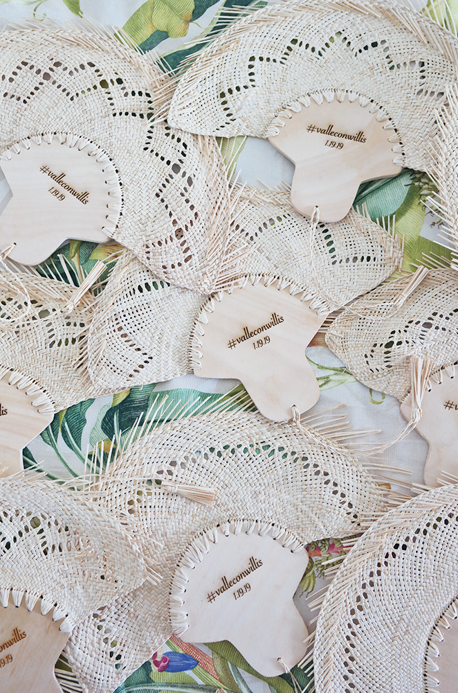 personalized fan wedding favors