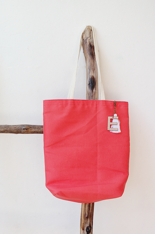 PALMITA / straw tote with leather handles