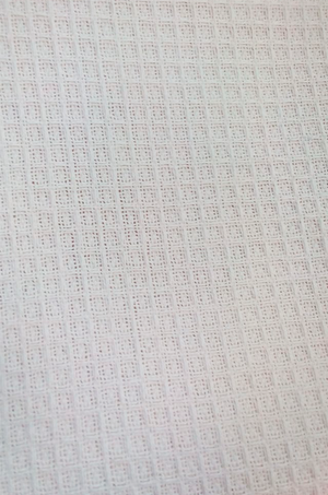 woven cotton with squares pattern