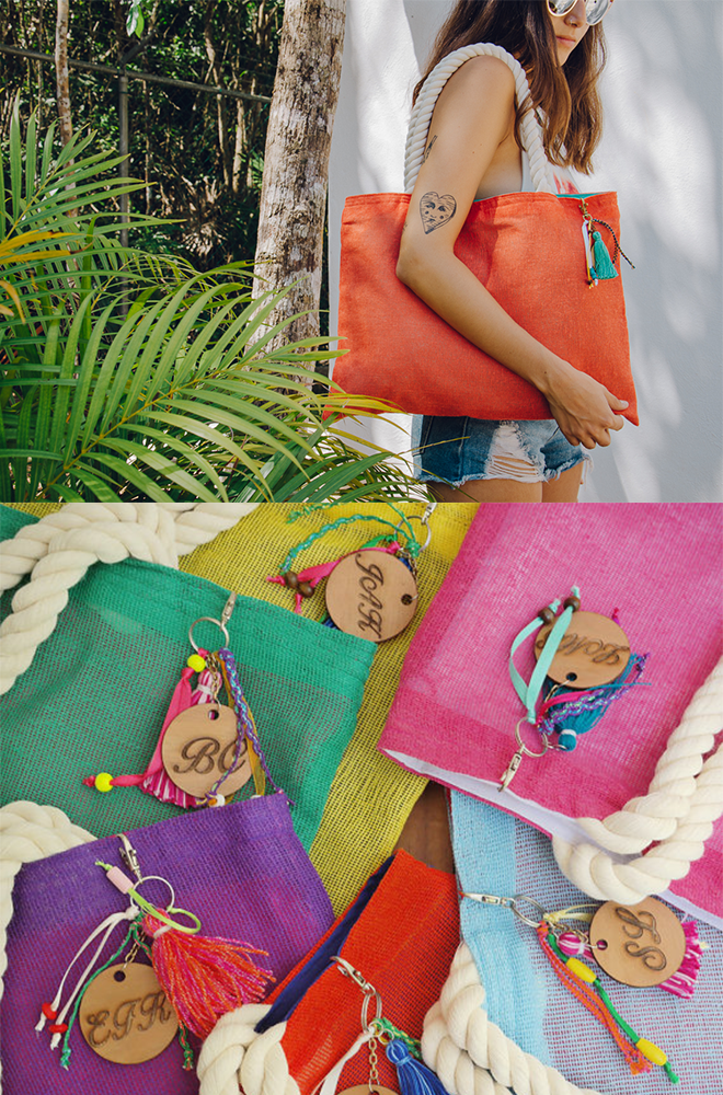 jute bags in multiple colors