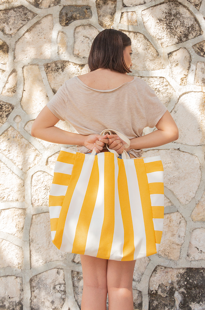 oversized canvas beach bag