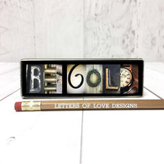 Be gold photo letter art wood signs alphabet photography
