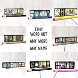 One Word Art, Your Word, My Word, Inspirational Word of the Year Tiny Wood Sign