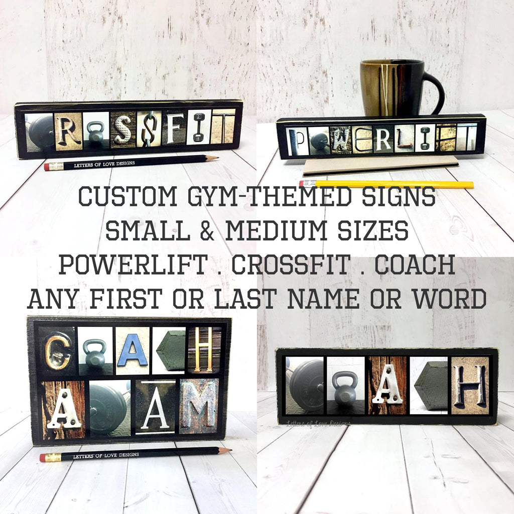 Crossfit Sign, Crossfit Gift, Gym Art, Weight Lifter Gift, Weightlifter Art
