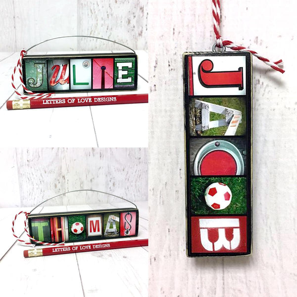 Christmas Ornaments, Personalized Name Ornaments, Christmas Gifts