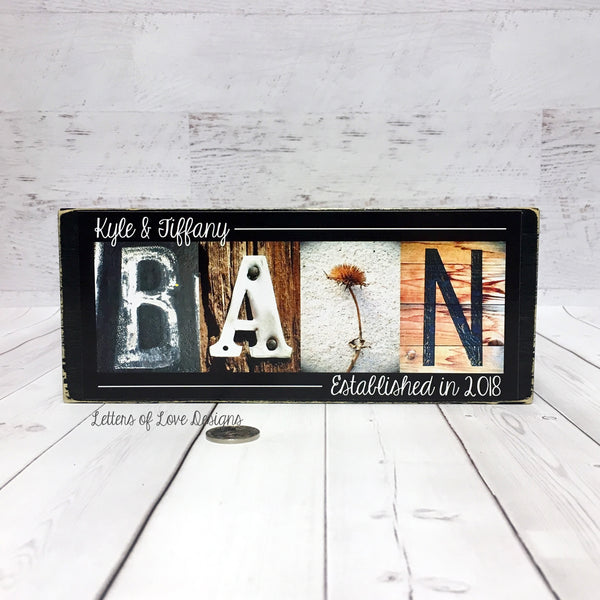 Custom Last Name Wood Sign, Wedding Gift, Personalized Name Sign