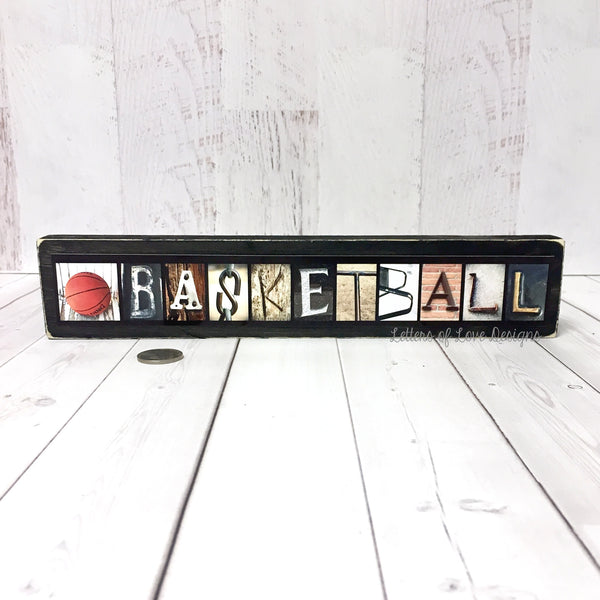 Baseball Love Wood Sign, Baseball Coach Sports Gift