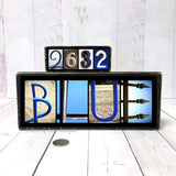 Blue Lives Matter Wood Sign, Police Officer Gift, Law Enforcement Officer Gift Badge Number Sign