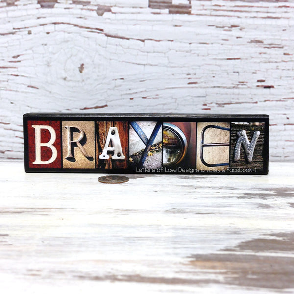 Groomsmen & Ring Bearer Name Wood Signs - Custom Wedding Party Gifts