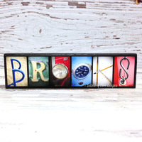Name Magnet, Wooden Refrigerator Magnet, Fridge Magnet Name Sign Gift