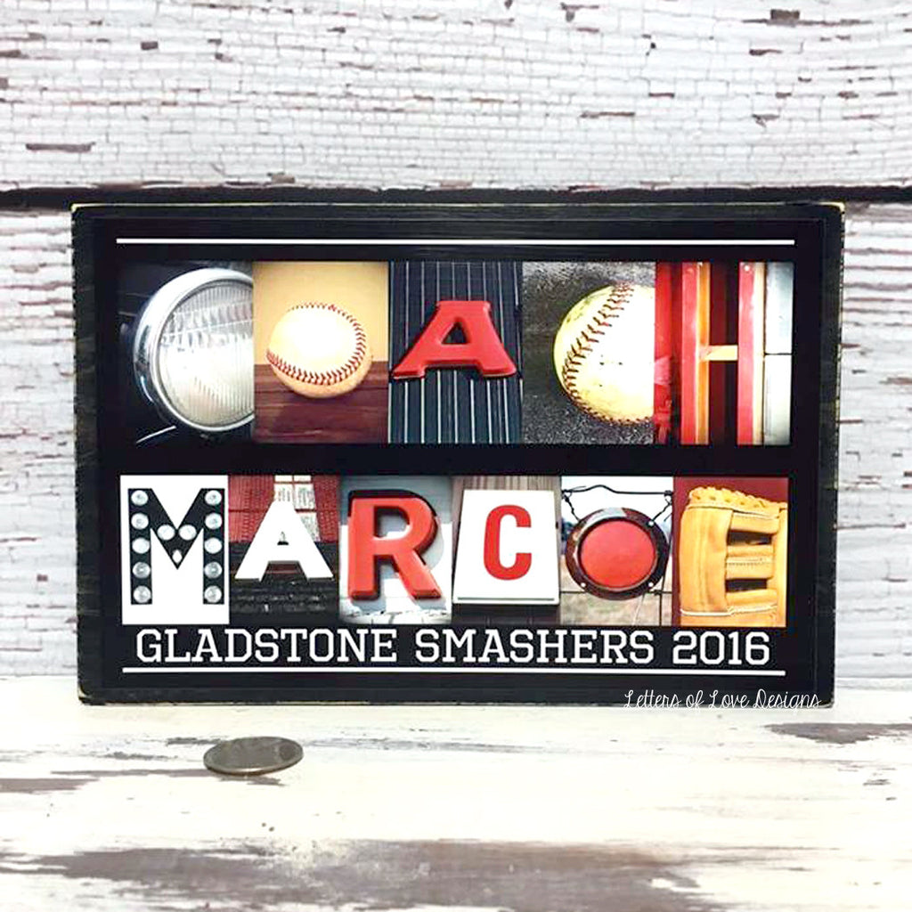 Coach Gift - Baseball Coach Gift - Baseball Coach Wood Sign - Personalized Coach Gift