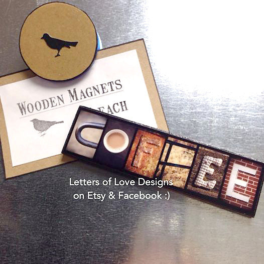 Coffee Wood Sign, Coffee Lover Gift, Coffee Gift, Fridge Magnet, Refrigerator Magnet