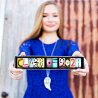 Class of 2021 Sign, Gift for Him, Gift for Her, Graduation Gift, Senior Photography Prop / Free Shipping