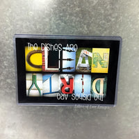 Clean Dirty Dishwasher Magnet Sign, Dishes are Clean & Dirty